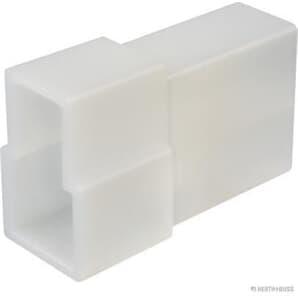 Elparts Steckgehäuse 2-polig Flachstecker Steckbreite 6,3mm