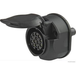 Elparts Steckdose 13-polig 12V mit Microschalter mit Nebelschlussleuchtenabschaltung