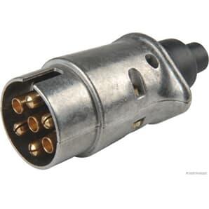 Elparts Stecker 7-polig Aluminium DIN/ISO 1724 N-Typ von 6 V bis 12 V
