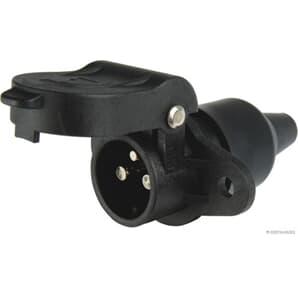 Elparts Steckdose 3-polig Flachsteckanschluss Kunststoff 6V bis 24V