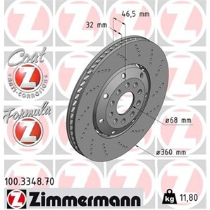 1 Zimmermann Sportbremsscheibe Formula Z rechts Audi A4