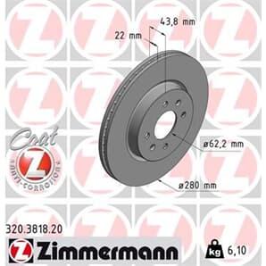 1 Zimmermann Bremsscheibe 320.3818.20
