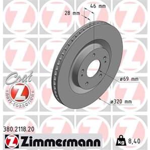 1 Zimmermann Bremsscheibe 380.2118.20