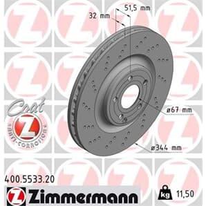 1 Zimmermann Bremsscheibe 400.5533.20