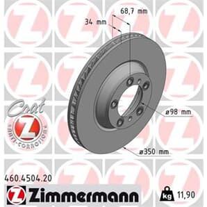 1 Zimmermann Bremsscheibe 460.4504.20