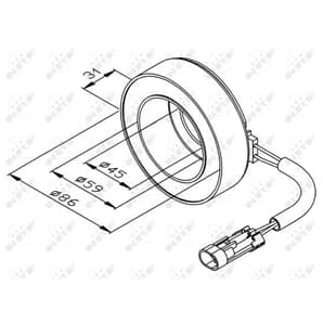 NRF Magnetkupplung für Klimakompressor Opel Agila Astra G Corsa  Meriva Zafira