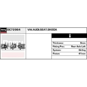 Bremssattel hinten links Audi A3 TT Seat Skoda VW