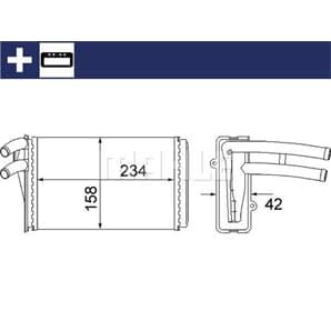 Mahle Wärmetauscher für Innenraumheizung Audi 80 Cabriolet Coupe