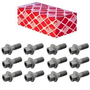 12 Febi Radschrauben für Stahl oder Alufelge für Smart 450 451 452