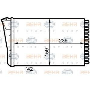 Hella Wärmetauscher für Innenraumheizung Opel Omega