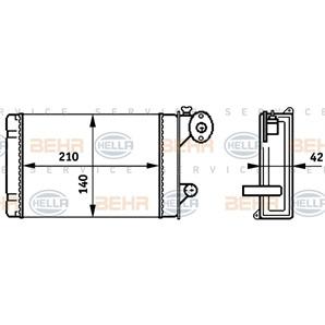 Hella Wärmetauscher für Innenraumheizung Audi 50 VW Derby Iltis Polo