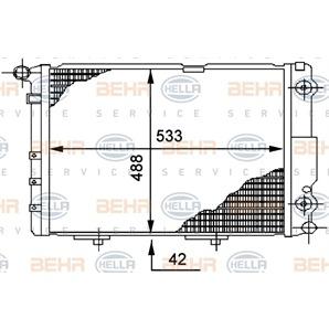 Hella Motorkühler Mercedes E-Klasse Kombi Stufenheck kaufen - Autoteile-Preiswert
