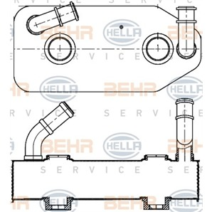 Hella Ölkühler für Automatikgetriebe Audi Seat Skoda VW