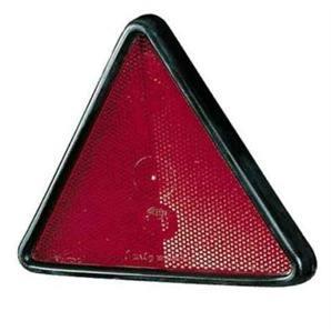 Elparts Rückstrahler Dreieck mit Rahmen geschraubt Rot Kunststoff mit Bolzen Gehäusefarbe schwarz