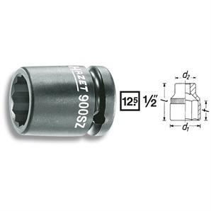 Hazet 1/2 Zoll Kraft Steckschlüssel Doppel 6-Kant 19mm