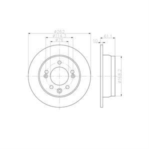 2 textar bremsscheiben 262mm hinten hyundai i30 ix35 kia. Black Bedroom Furniture Sets. Home Design Ideas
