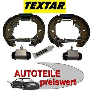 4 Textar Bremsbacken vormontiert mit Radzylinder Audi 80 Seat Cordoba Ibiza Toledo VW Derby Golf ka