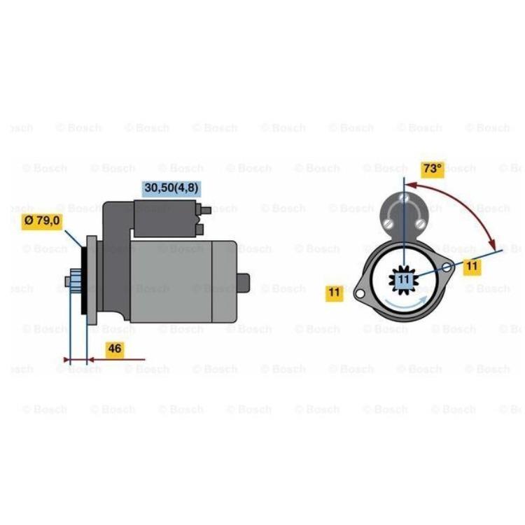 Bosch Anlasser 0001123044 im Autoteile Preiswert Shop kaufen und sparen!