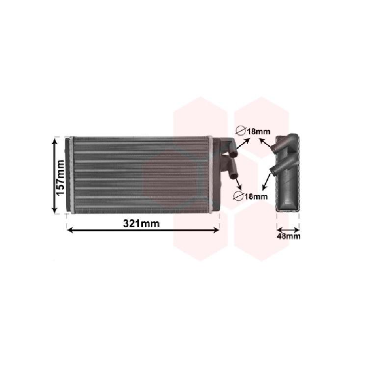 Heizungskühler Audi A6 100 200 + Avant V8 1,6 - 4,2 + TDI Quattro