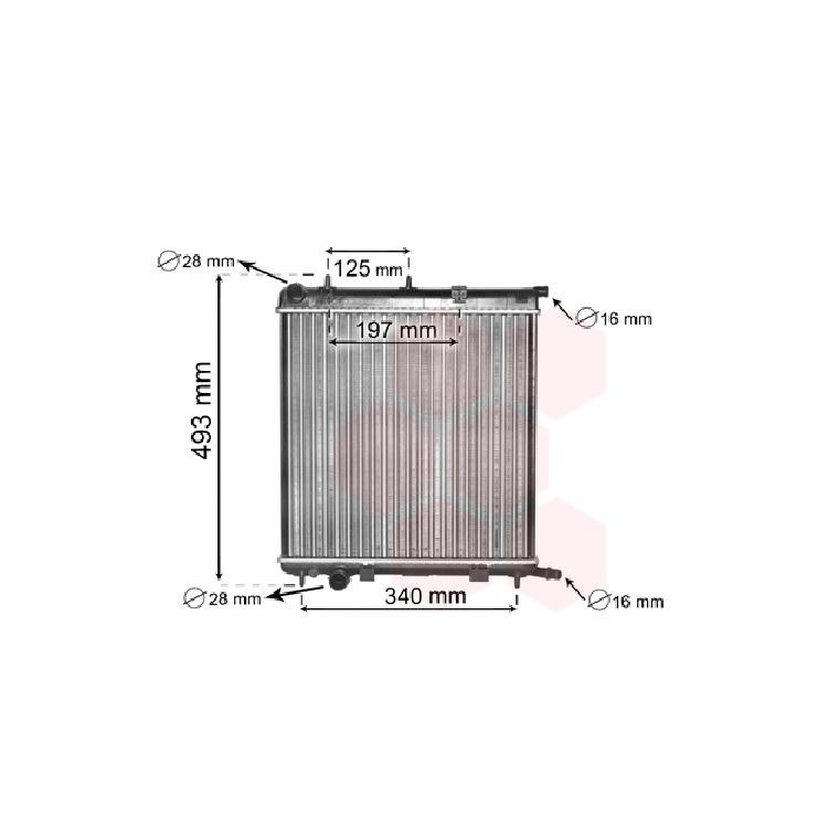Wasserkühler Citroen C2 C3 I + Pluriel Oeugeot 207 + SW 1007
