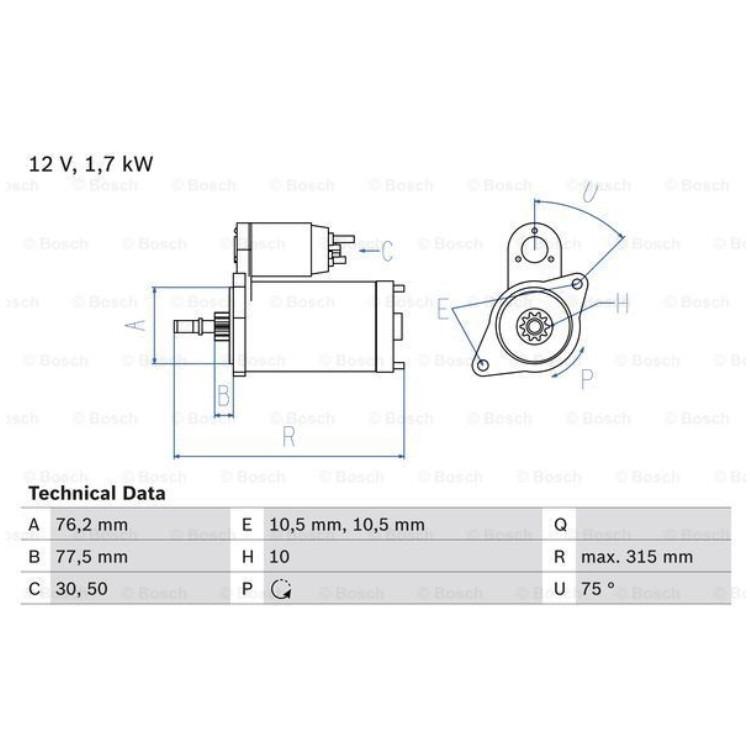 Bosch Anlasser 0986016250 online günstig Autoteile kaufen