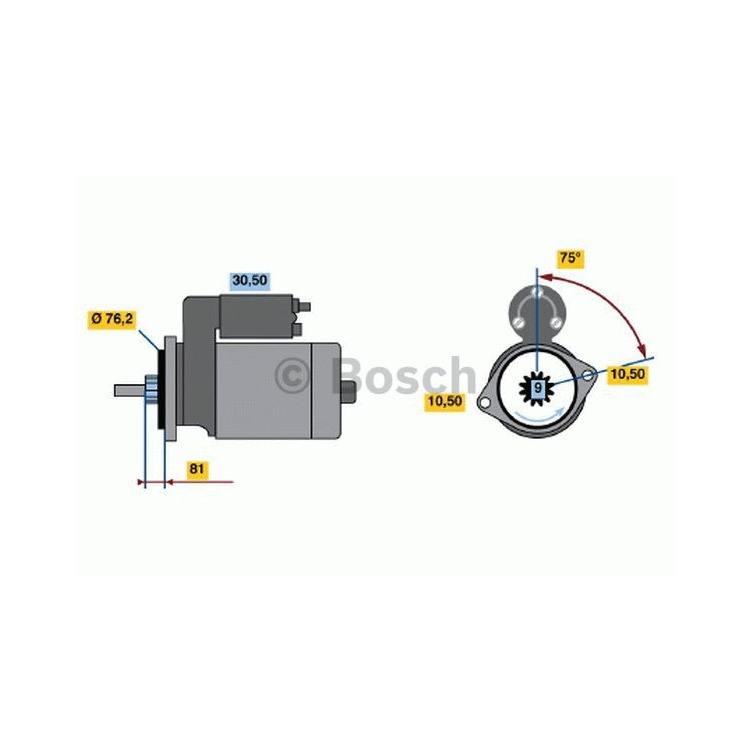 Bosch Anlasser 0986016250 im Autoteile Preiswert Shop kaufen und sparen!