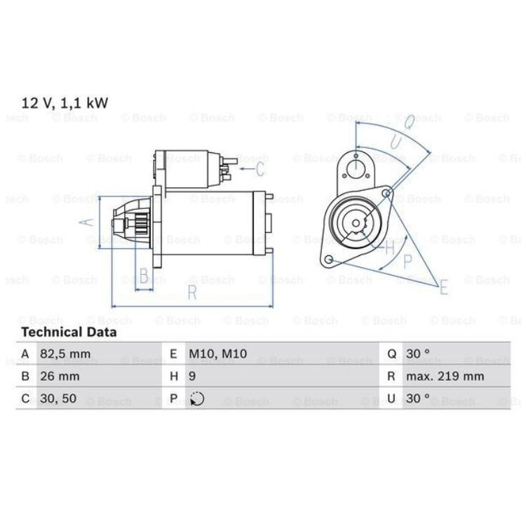Bosch Anlasser 0986016380 online günstig Autoteile kaufen