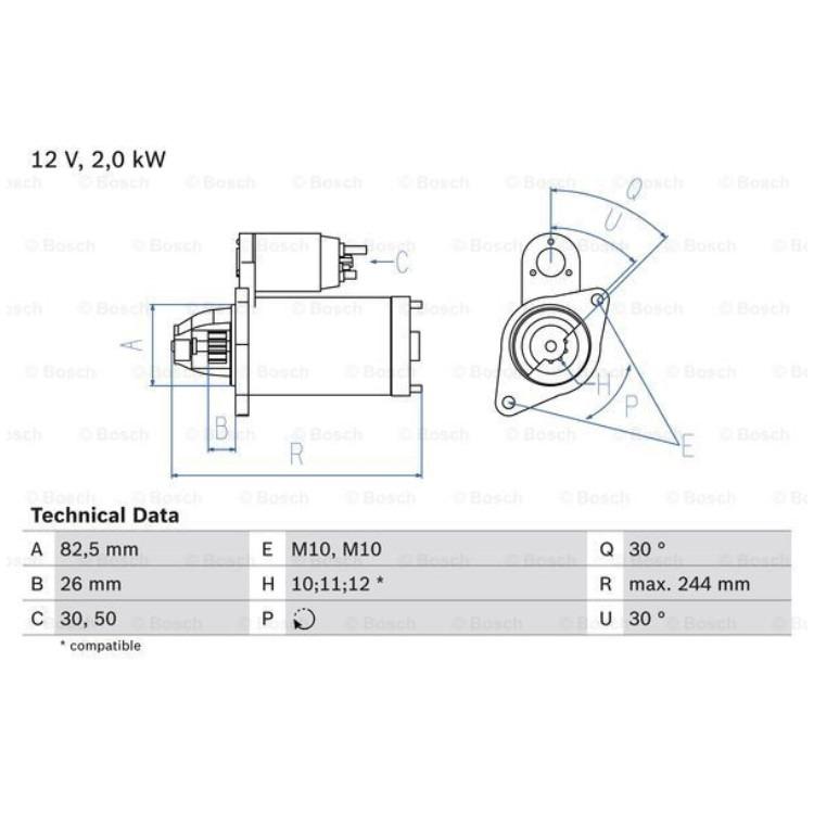 Bosch Anlasser 0986017260 online günstig Autoteile kaufen