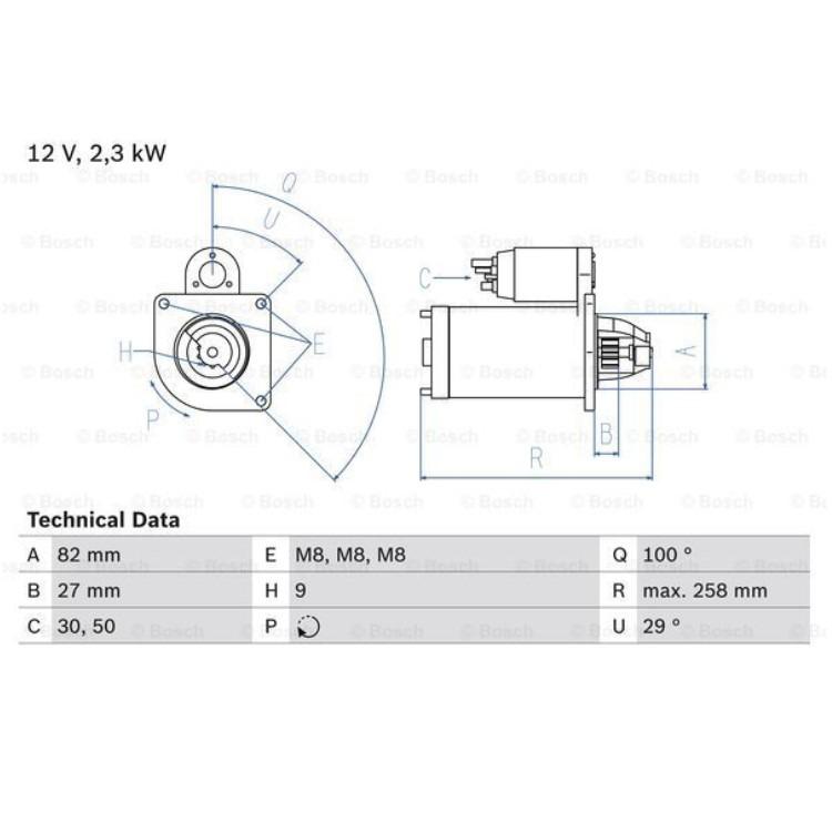 Bosch Anlasser 0986018950 online günstig Autoteile kaufen