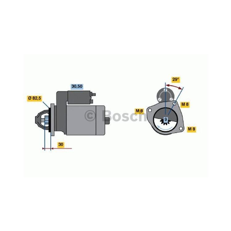 Bosch Anlasser 0986018950 im Autoteile Preiswert Shop kaufen und sparen!
