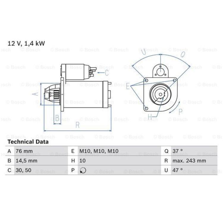 Bosch Anlasser 0986022840 online günstig Autoteile kaufen