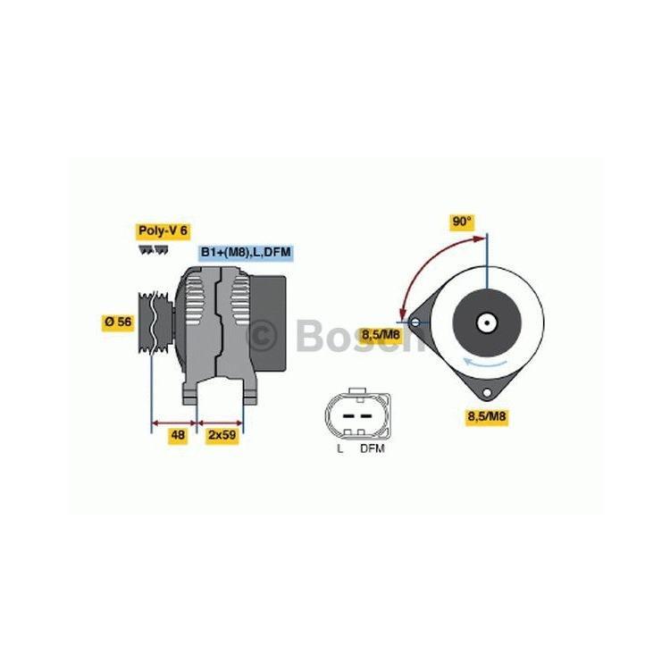 Bosch Lichtmaschine 0986041500 im Autoteile Preiswert Shop kaufen und sparen!