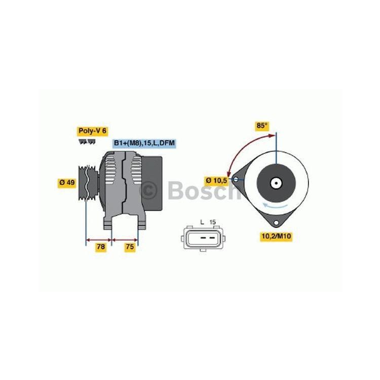 Bosch Lichtmaschine 0986041810 im Autoteile Preiswert Shop kaufen und sparen!