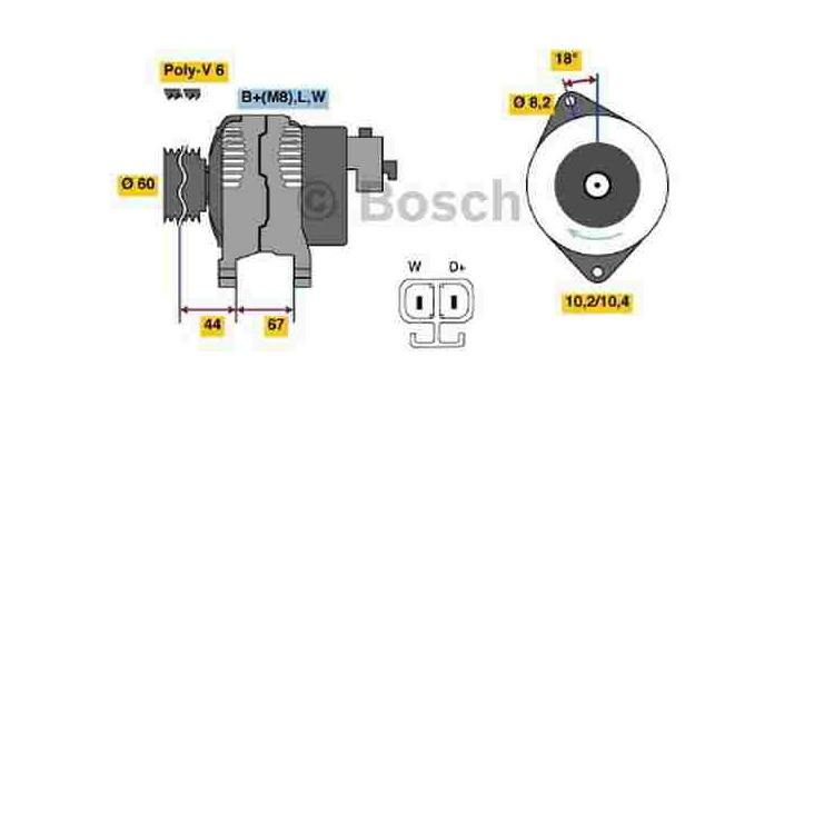 Bosch Lichtmaschine 0986043981 im Autoteile Preiswert Shop kaufen und sparen!