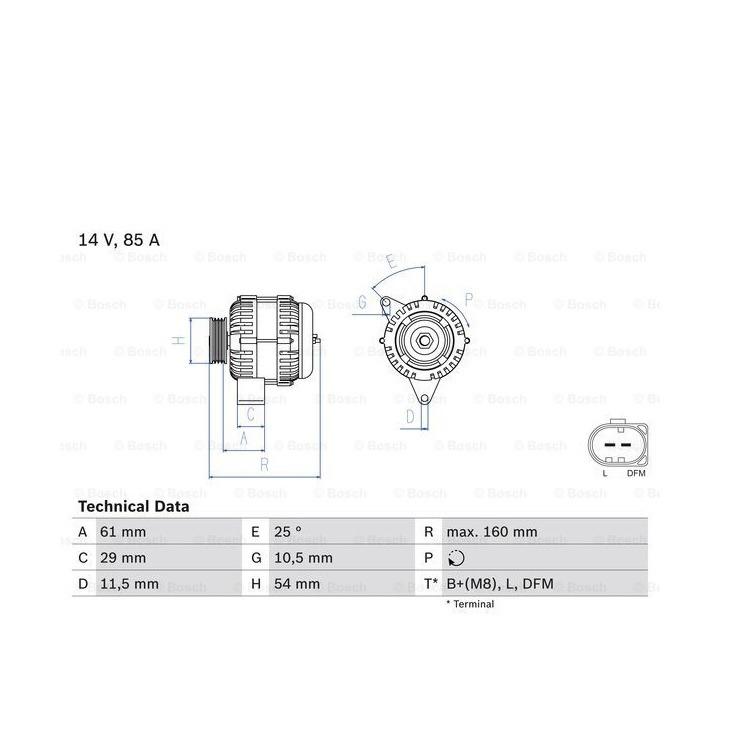 Bosch Lichtmaschine Smart Cabrio City-Coupe Fortwo Cabrio Coupe 0,8 CD