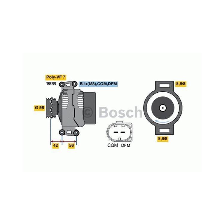 Bosch Lichtmaschine 0986045701 online günstig Autoteile kaufen