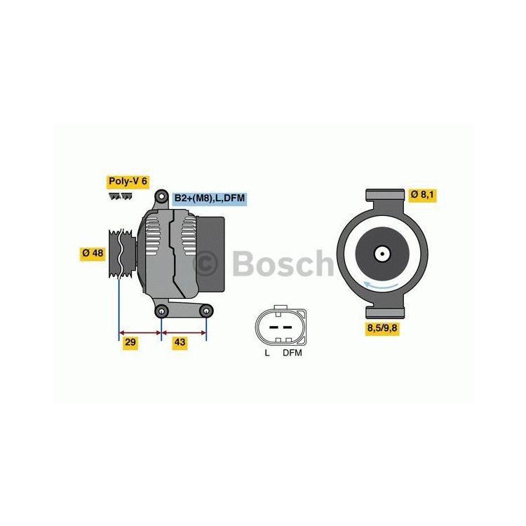 Bosch Lichtmaschine 0986048750 im Autoteile Preiswert Shop kaufen und sparen!