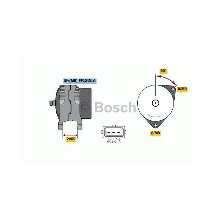Bosch Lichtmaschine 0986049181 im Autoteile Preiswert Shop kaufen und sparen!