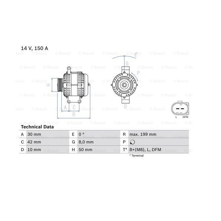 Bosch Lichtmaschine Mercedes A-Klasse Vaneo W168 414