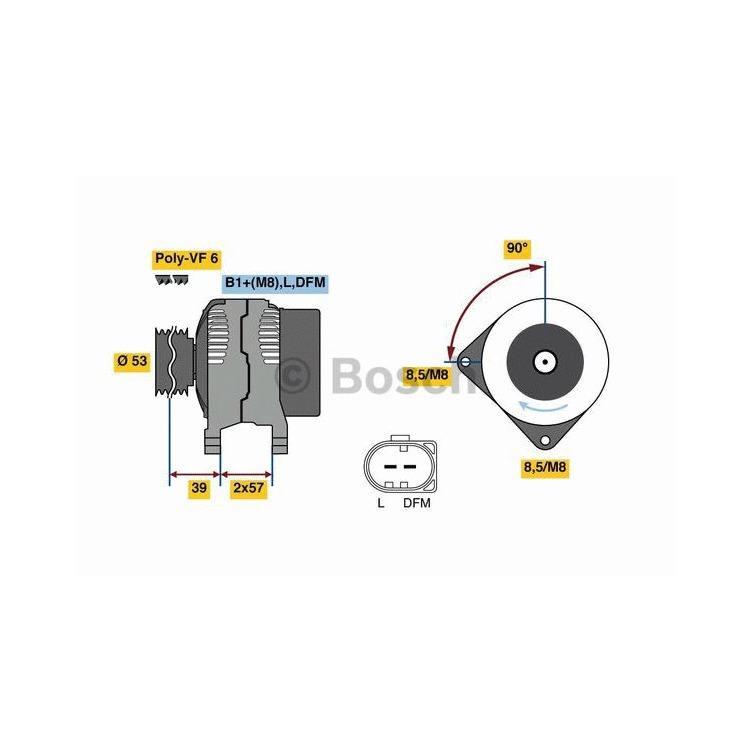 Bosch Lichtmaschine 0986080600 im Autoteile Preiswert Shop kaufen und sparen!