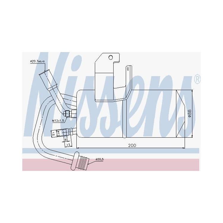 Nissens Trockner für Klimaanlage Ford Fiesta Fusion Mazda 02