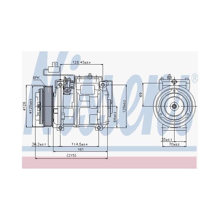 Nissens Klimakompressor Mercedes