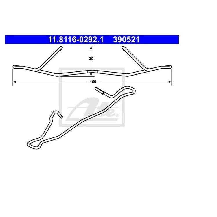 ATE Feder für Bremssattel vorne Opel Astra G H Combo Corsa Vectra Omeha Meriva