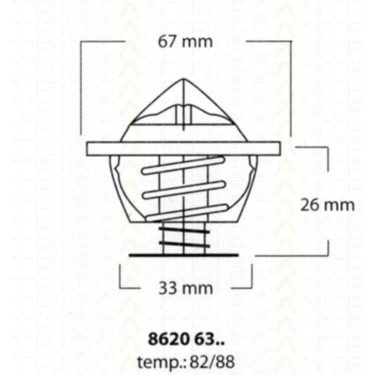 Triscan Thermostat BMW Land Rover Opel Porsche