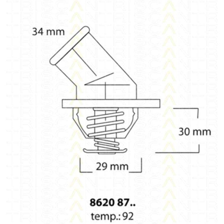 Triscan Thermostat 86208792 bei Autoteile Preiswert