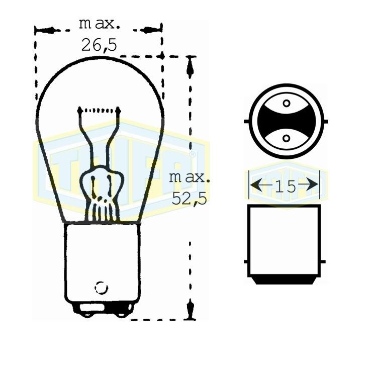 Auto-Lampe 12V21WS bei Autoteile Preiswert