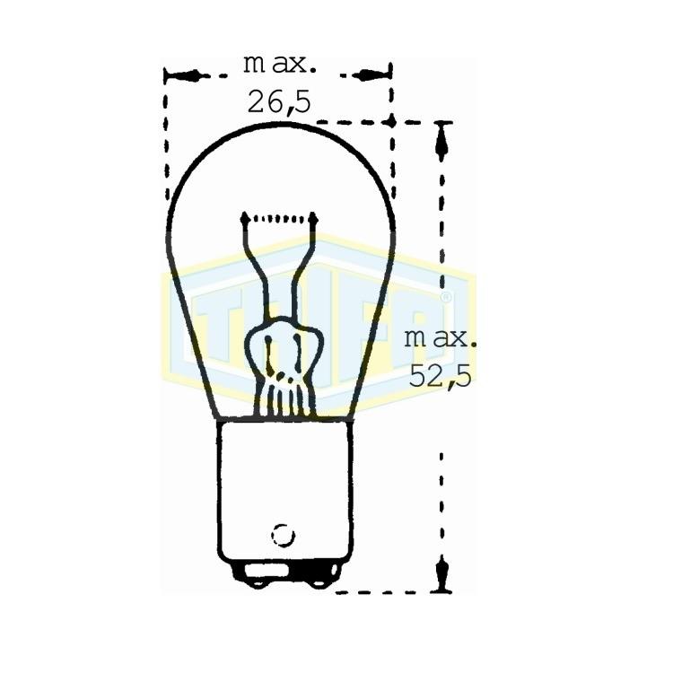 Auto-Lampe  BAU15S