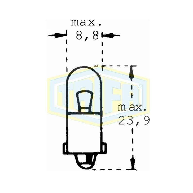 Auto-Lampe 12V 3WS