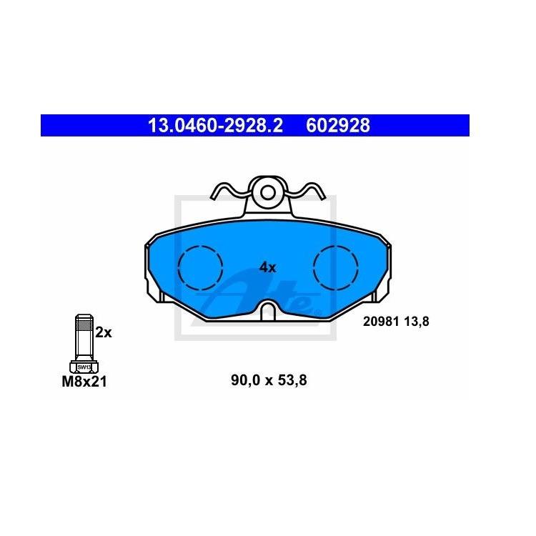 ATE Bremsbeläge hinten 13.0460-2928.2 online günstig Autoteile kaufen