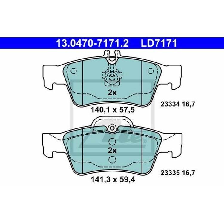 ATE Ceramic Bremsbeläge hinten Mercedes Cls E-Klasse S-Klasse Sl